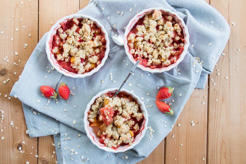 Crumbles nectarine fraise