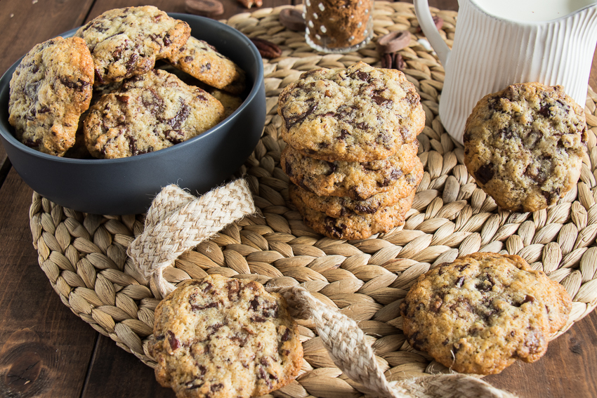 Cookies aux deux chocolats et noix de pécan de Nicolas Paciello
