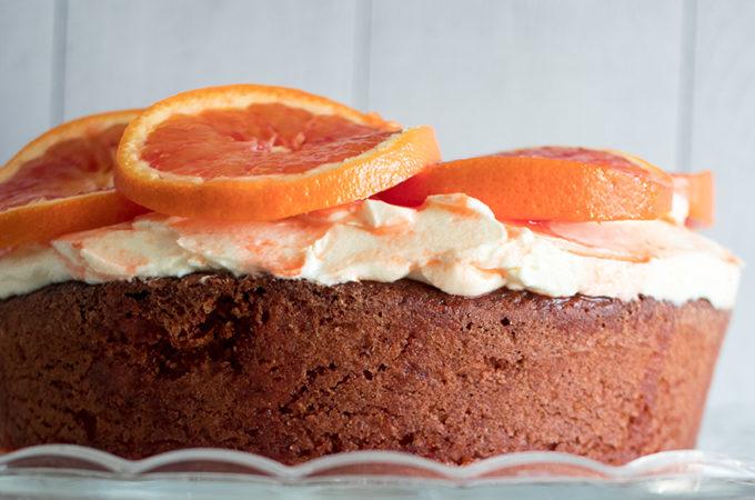 Gâteau oranges sanguines, amandes et cream cheese